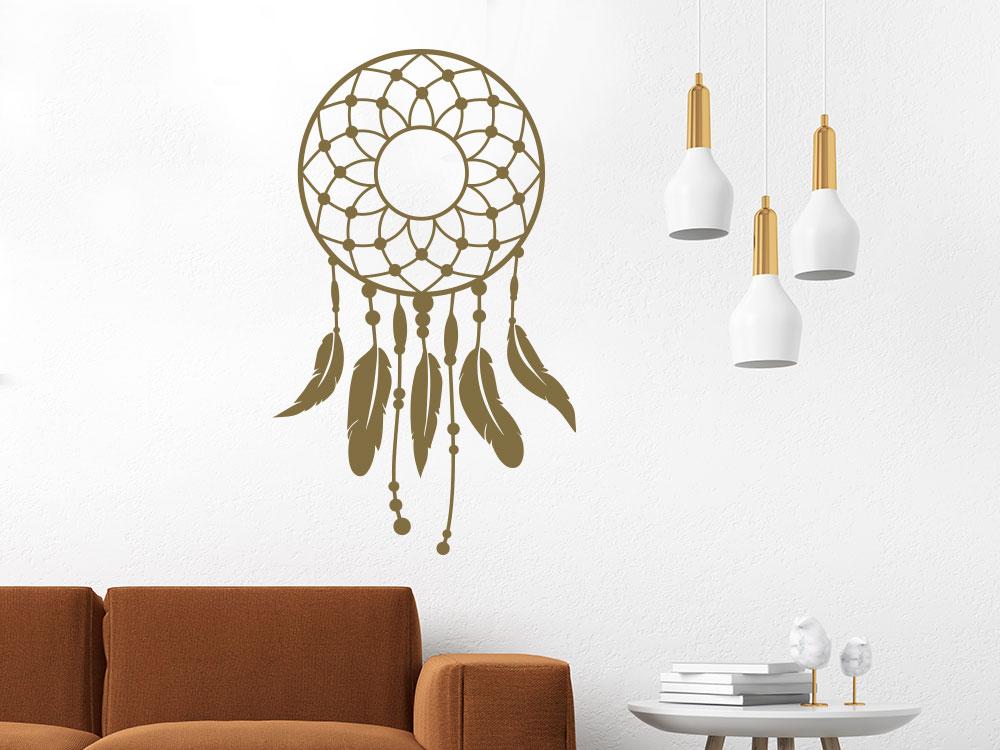 Wandtattoo Dreamcatcher im Wohnzimmer