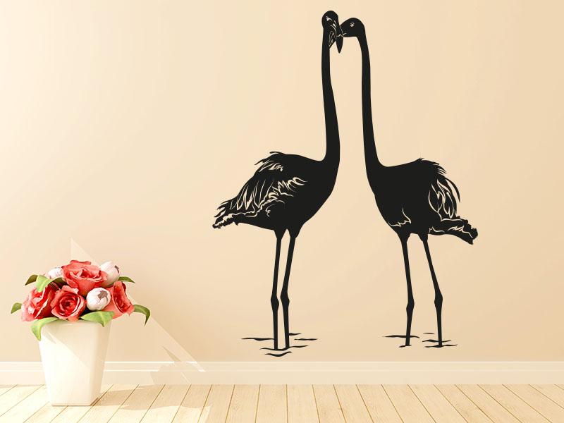 Wandtattoo Flamingos