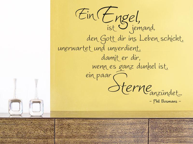 Wandtattoo Ein Engel ist jemand, den Gott dir ins Leben schickt, unerwartet und unverdient, damit e