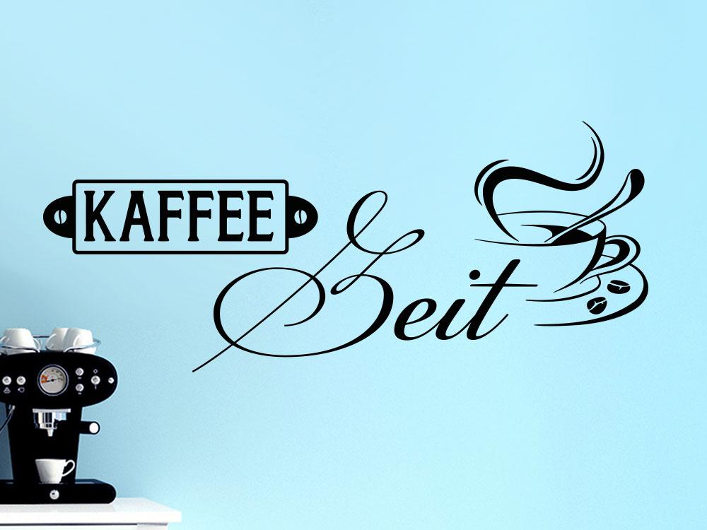 Wandtattoo Kaffeezeit mit Tasse