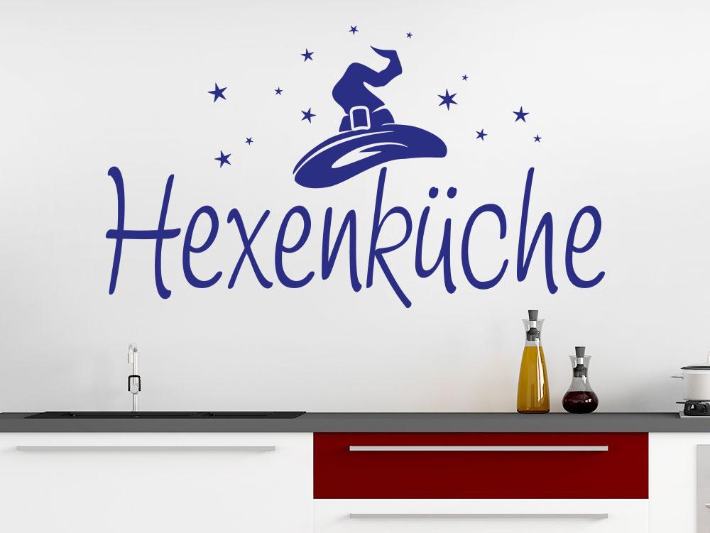 Wandtattoo Hexenküche Schriftzug in moderner Küche