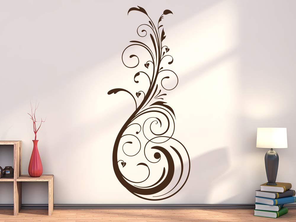wandtattoo stilvolles ornament mit wandtattoos ornamente. Black Bedroom Furniture Sets. Home Design Ideas