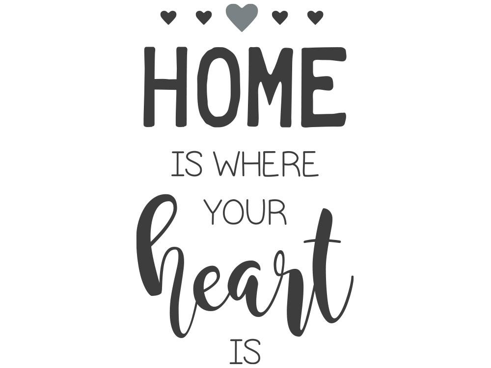 Wandtattoo Home is where your heart is Gesamtansicht