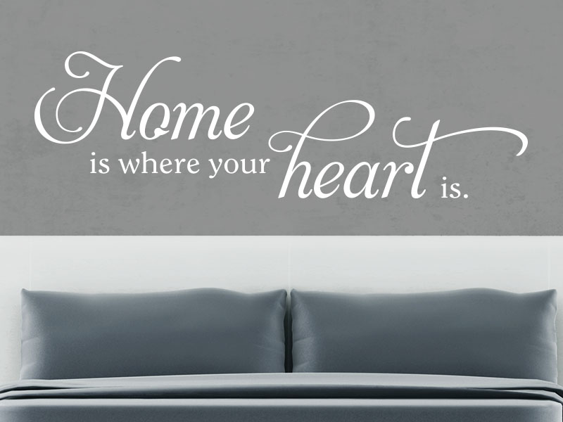 Wandtattoo Spruch Home is where your heart is