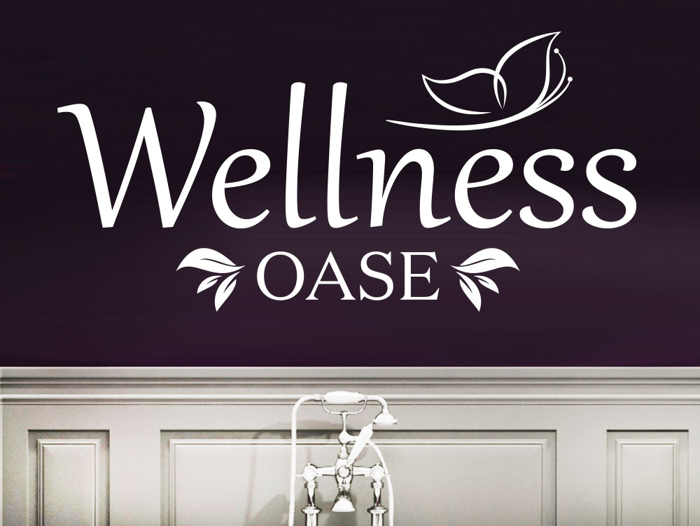 Wellnessoase Wandtattoo mit Schmetterling