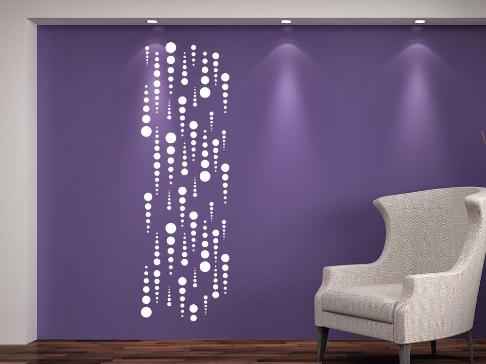 Wandtattoo Banner kreative Punkte im Wohnzimmer