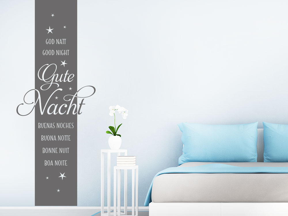 Wandtattoo Wandbanner Gute Nacht mit Sternen