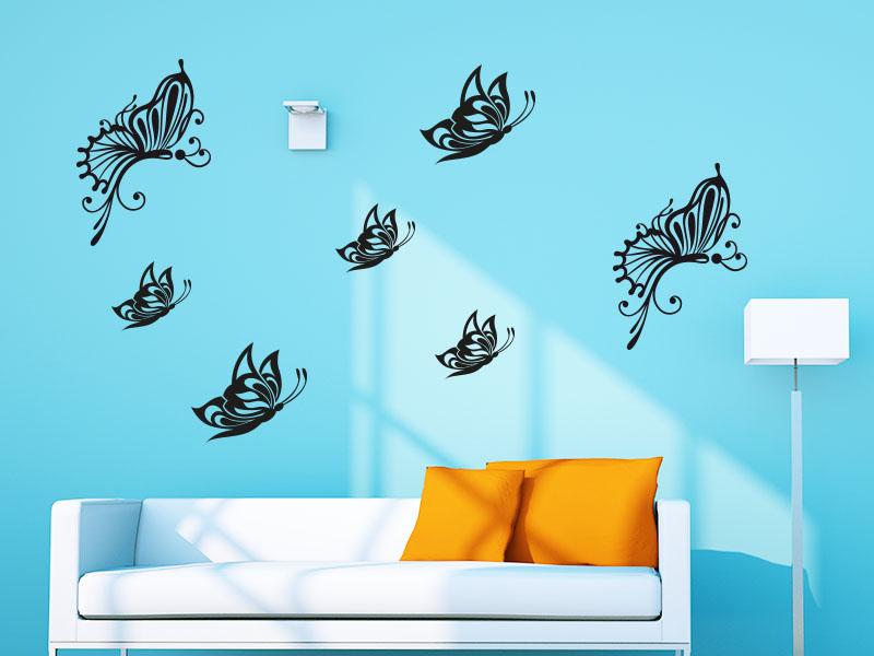 Wandtattoo Schmetterling Set Luftfalter