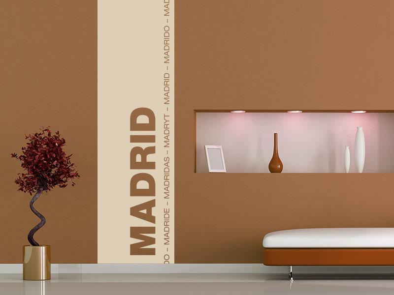 wandtattoo banner als wandbanner metropole madrid wandtattoos. Black Bedroom Furniture Sets. Home Design Ideas