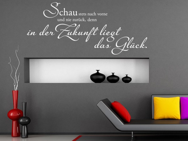 wandtattoo spr che gl ck tolle sprichw rter zum gl cklichsein. Black Bedroom Furniture Sets. Home Design Ideas