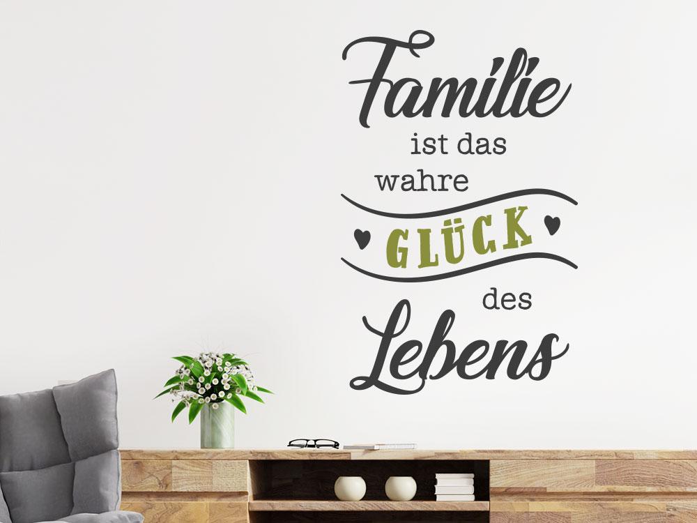 Wandtattoo Familie Glück Leben