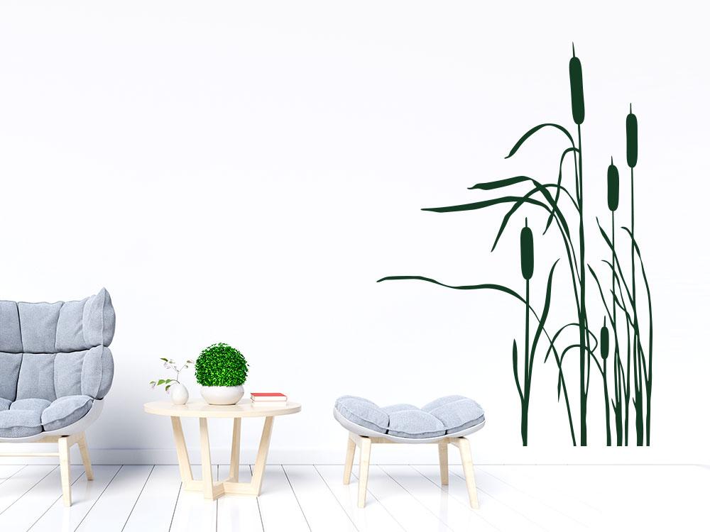 Wandtattoo Schilf Gras im Wohnzimmer