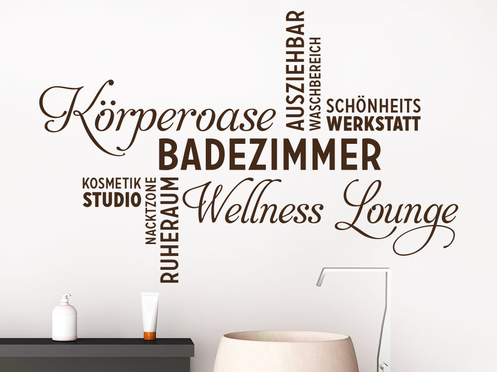 wandtattoo wortwolke badezimmer von klebeheld de. Black Bedroom Furniture Sets. Home Design Ideas
