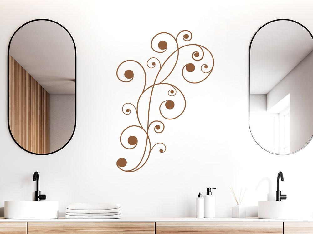 ´Schlichtes Wandtattoo Ornament im Badezimmer