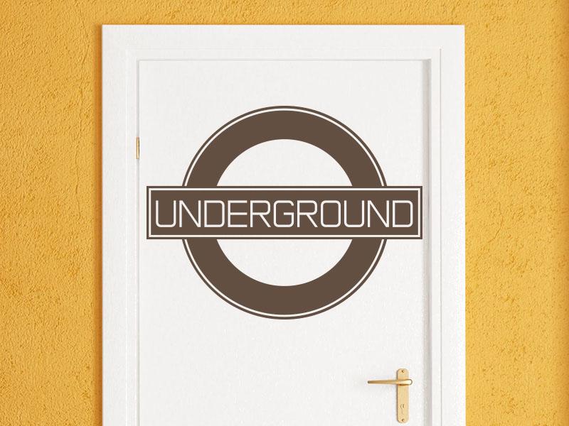 Wandtattoo Underground