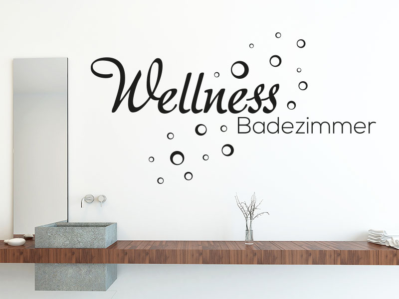 wandtattoo wellness badezimmer von klebeheld. Black Bedroom Furniture Sets. Home Design Ideas