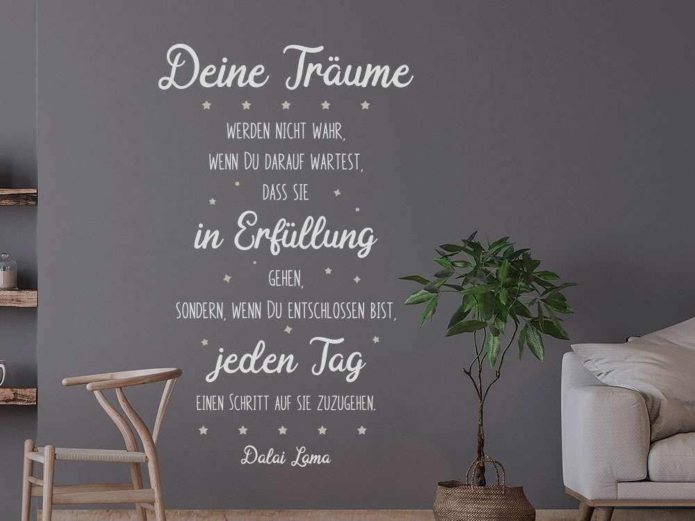 Wandtattoo Träume in Erfüllung gehen - KLEBEHELD®.DE