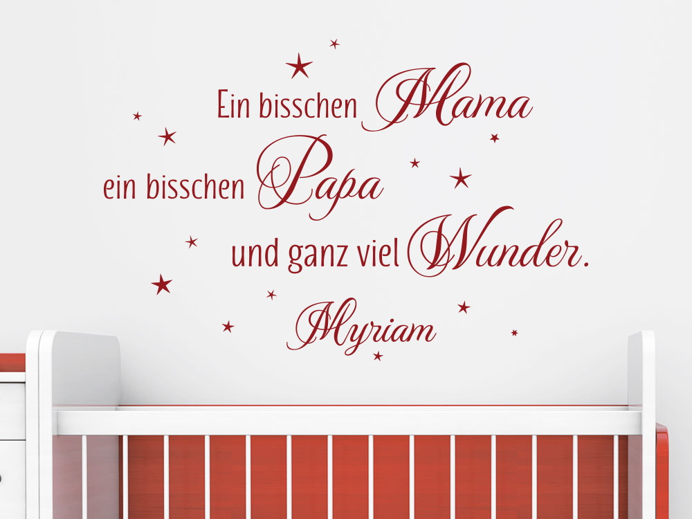 Wandtattoo mit Name Ein bisschen Mama… - Einzelansicht des Wandtattoos