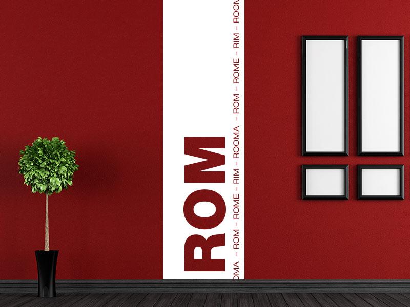 Wandtattoo Banner der Stadt Rom
