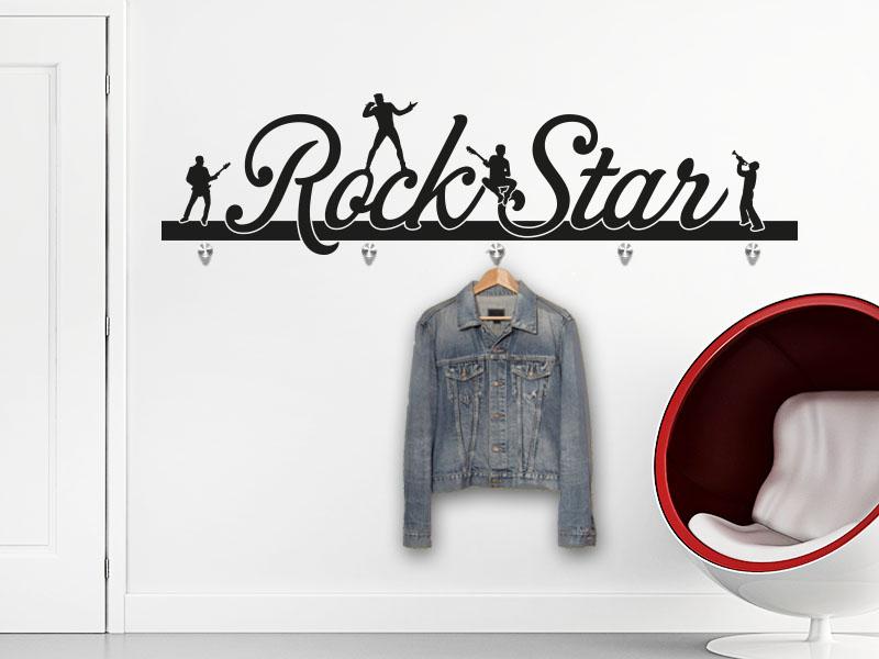 Wandtattoo Garderobe Rockstar