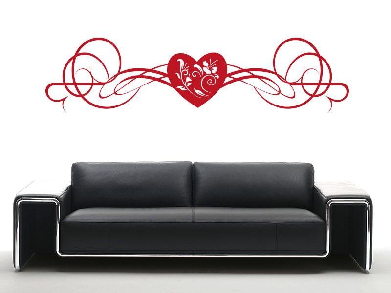 Wandtattoo Verspieltes Ornament mit Herz