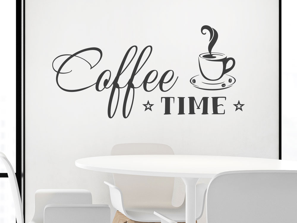 Coffee Time Wandtattoo Wohnküche