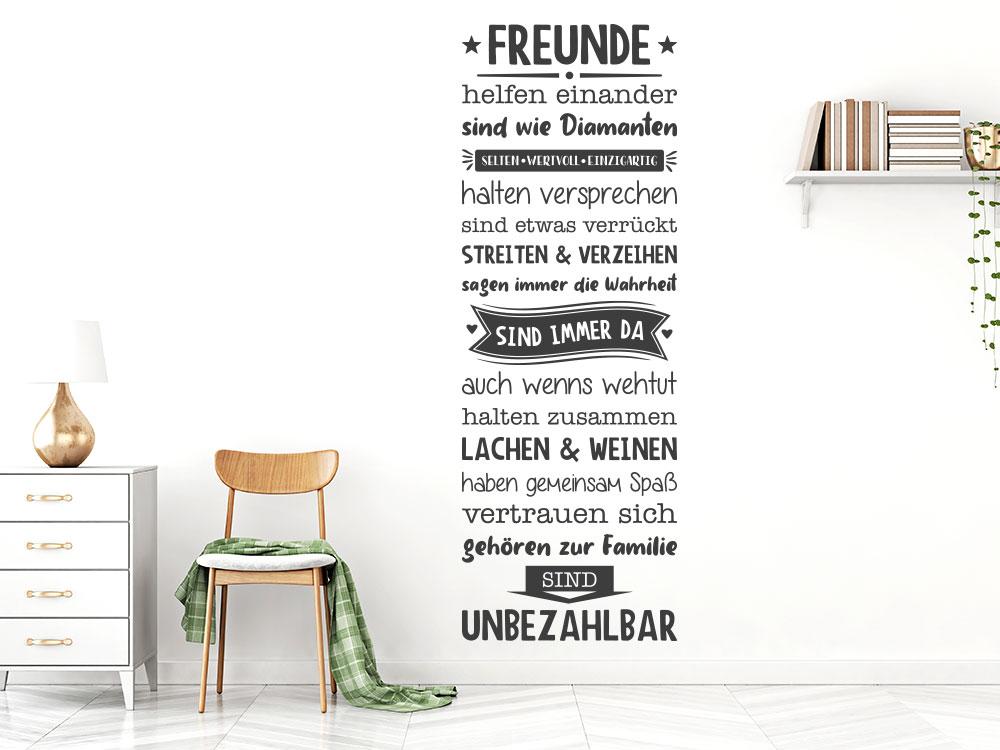 Wandtattoo Freunde Banner