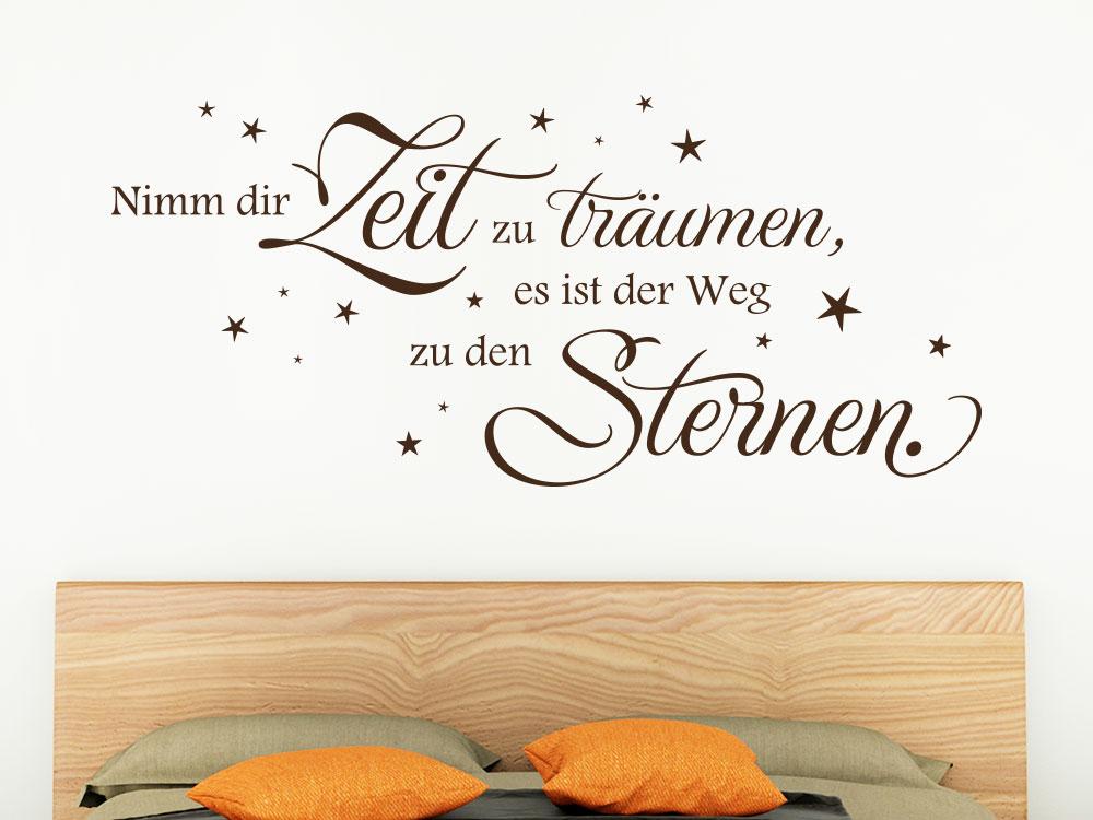 Wandtattoo Nimm dir Zeit zu träumen es ist der Weg zu den Sternen...
