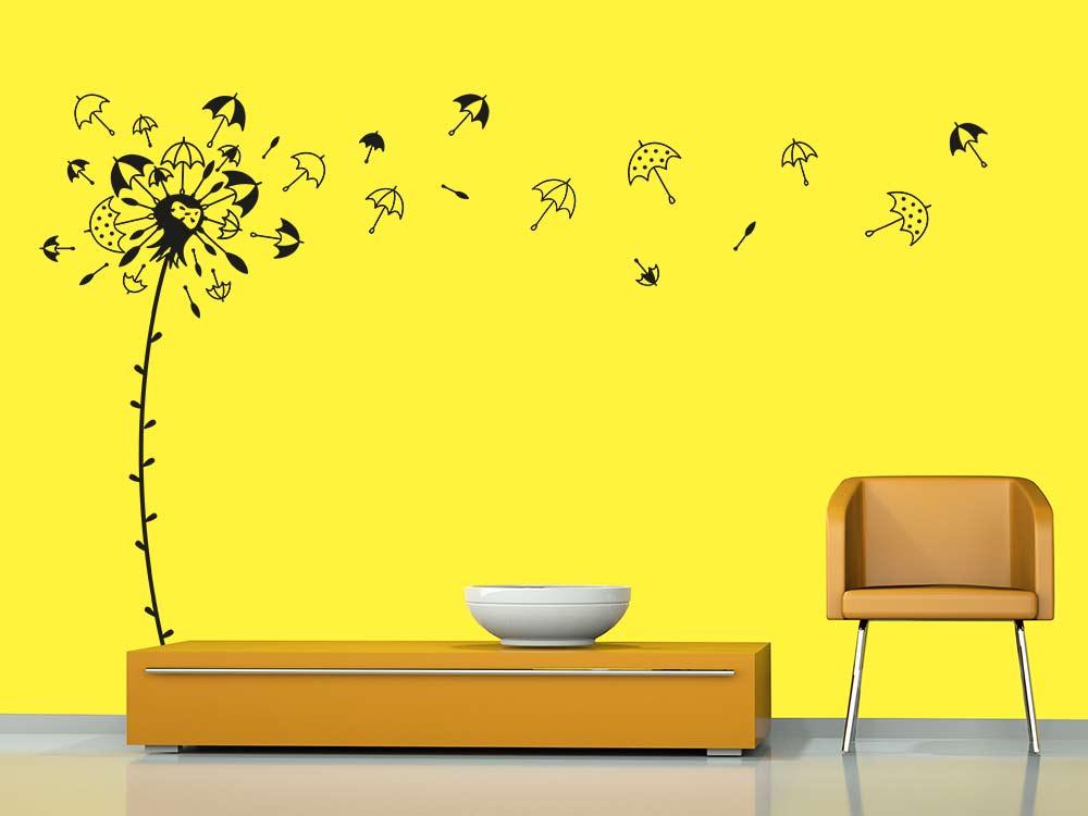 wandtattoo regenschirm pusteblume von klebeheld de. Black Bedroom Furniture Sets. Home Design Ideas