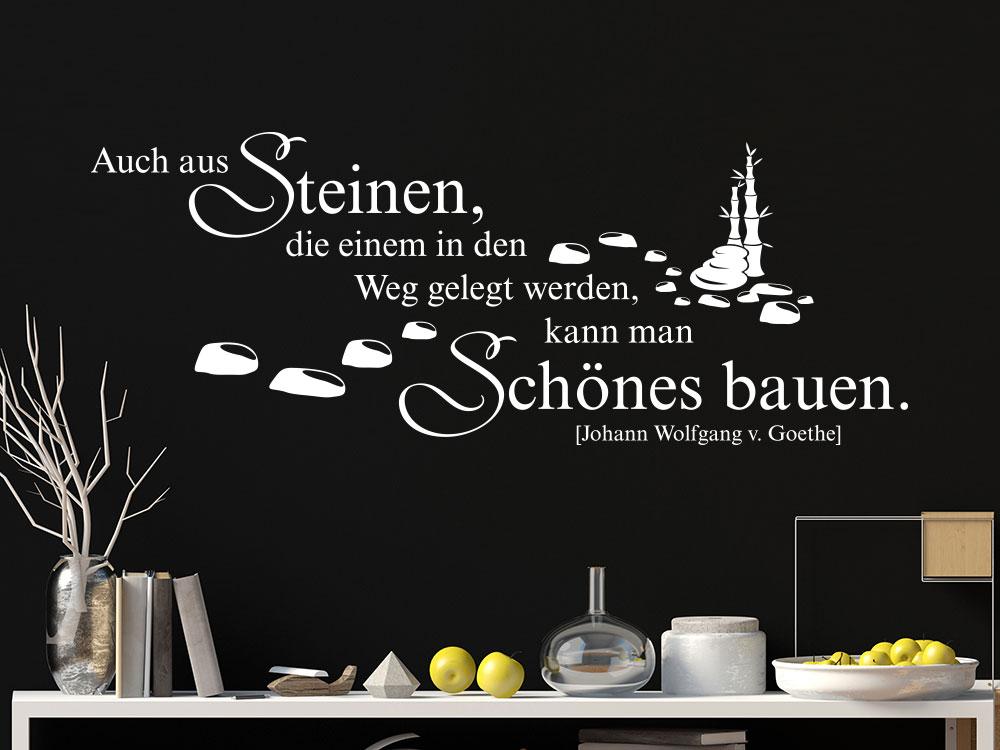 Wandtattoo Zitat Aus Steinen... Goethe