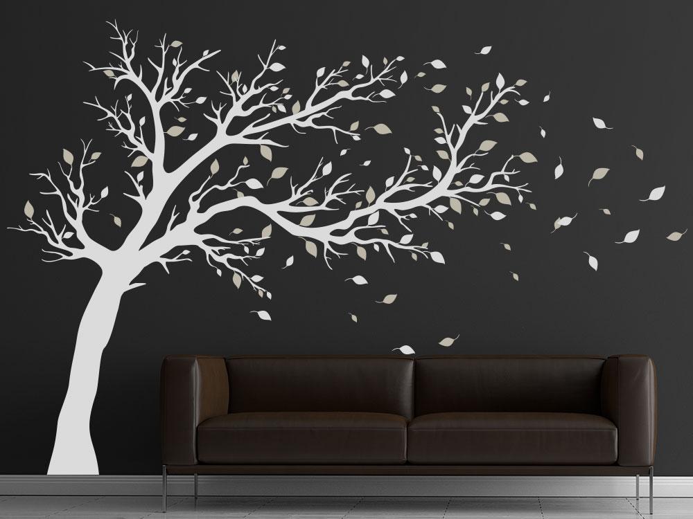 Wandtattoo Baum zweifarbig
