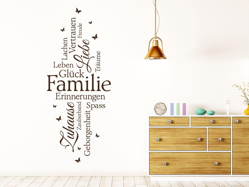Wandtattoo Familie Schriften