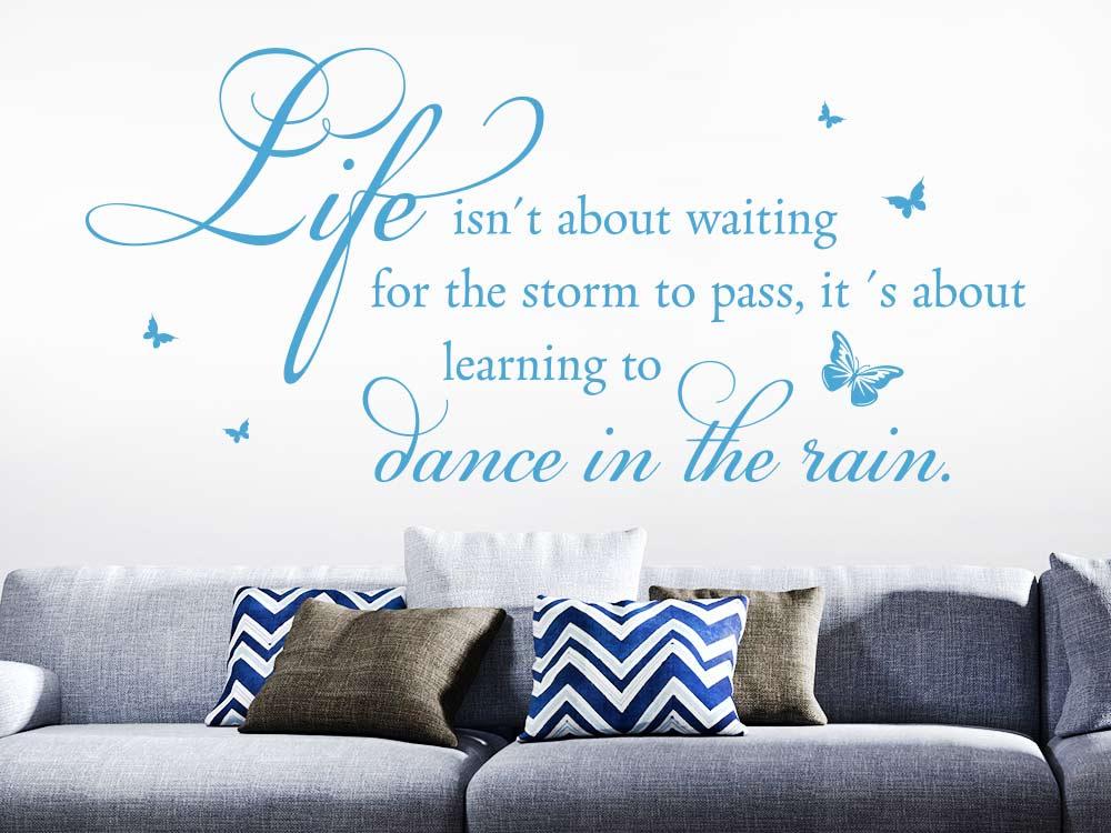 Wandtattoo Life isn´t about - Spruch im Wohnzimmer