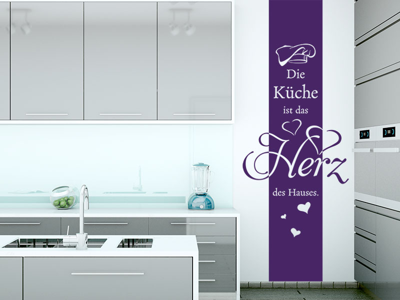 Wandtattoo Banner Die Küche ist