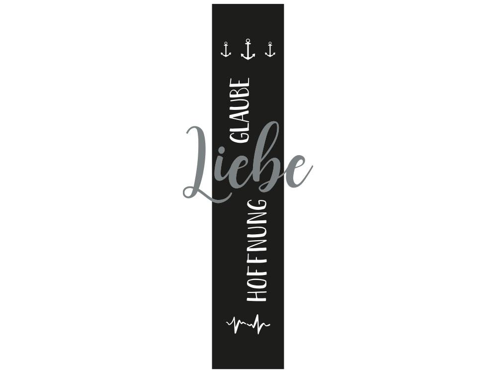 Wandtattoo Banner Glaube Liebe Hoffnung Gesamtansicht