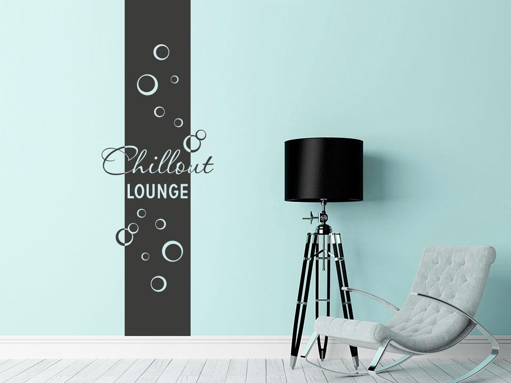 Wandtattoo Wandbanner Chillout Lounge Bubbles im Wohnzimmer