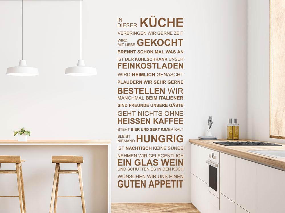 In dieser Küche Wandtattoo auf heller Wand