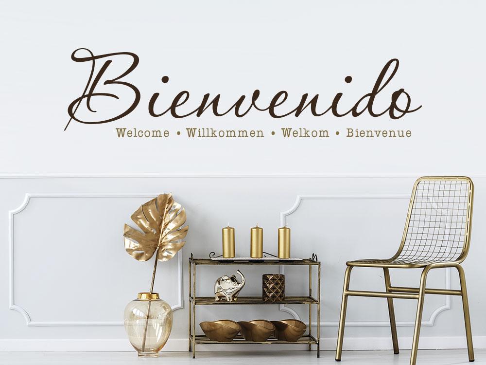 Wandtattoo Bienvenido in mehreren Sprachen
