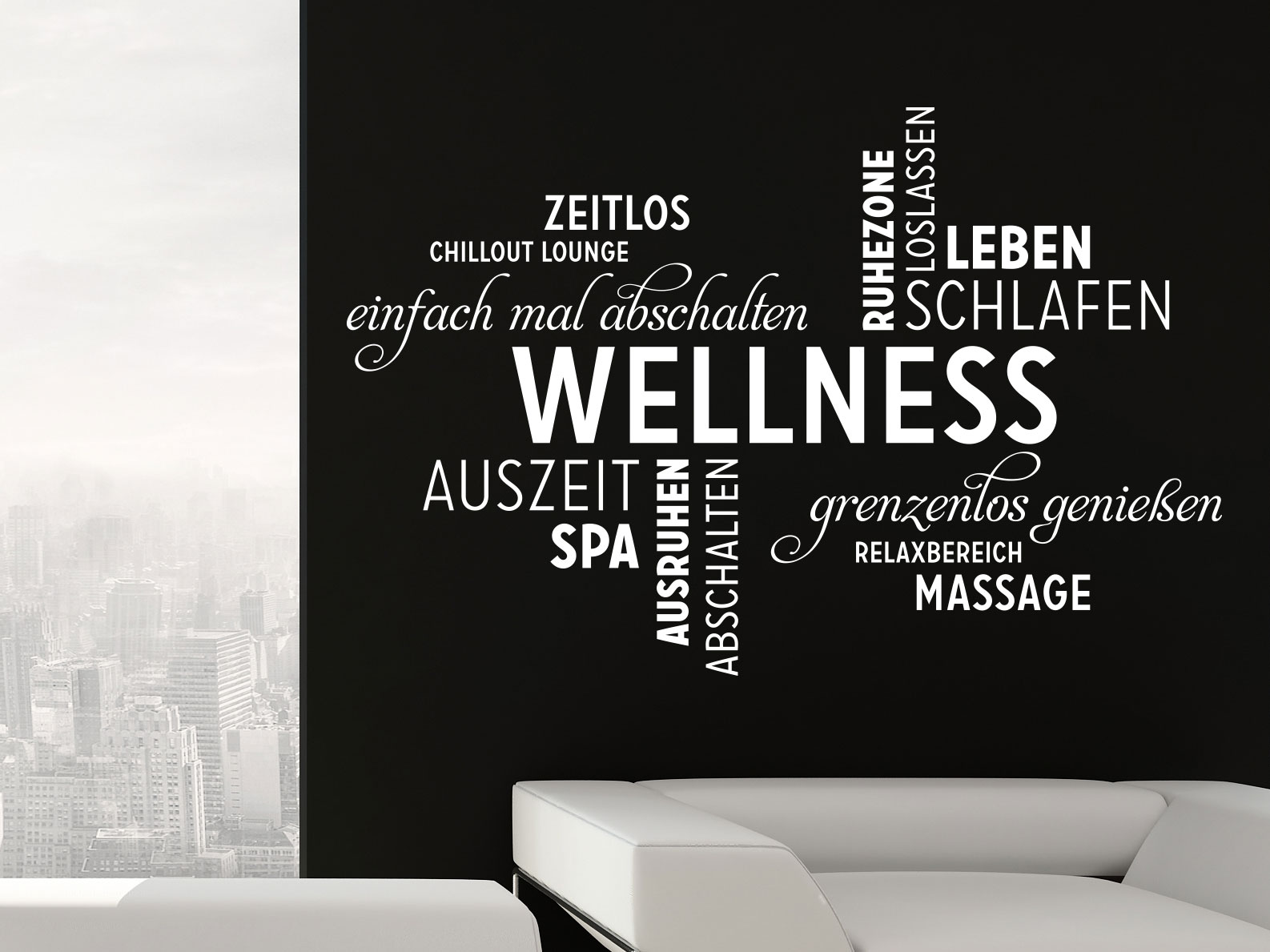 Inspiring Wandtattoo Kreise Ideas Of Wellness Wortwolke