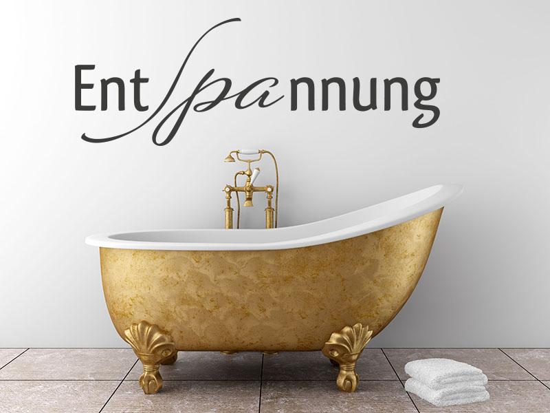 Wandtattoo Entspannung - Badezimmer mit schönen Wandtattoos