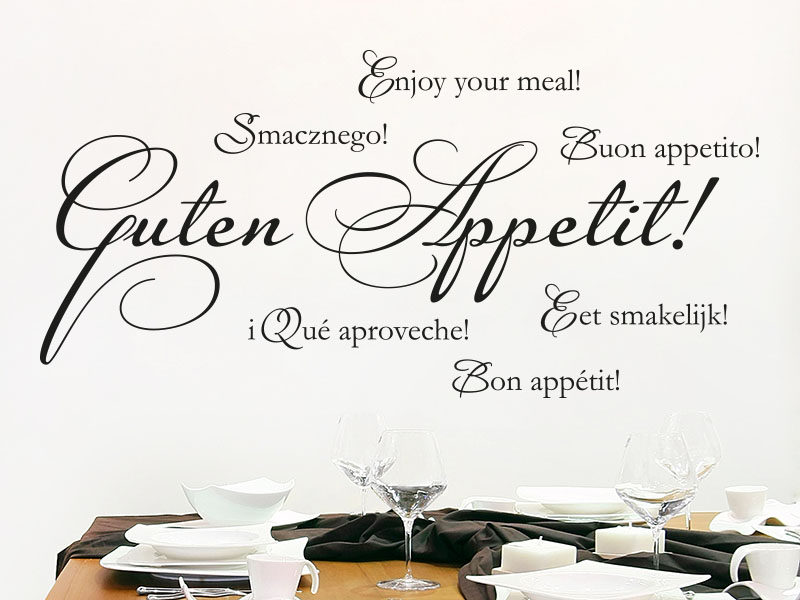 Wandtattoo Guten Appetit dekorativ