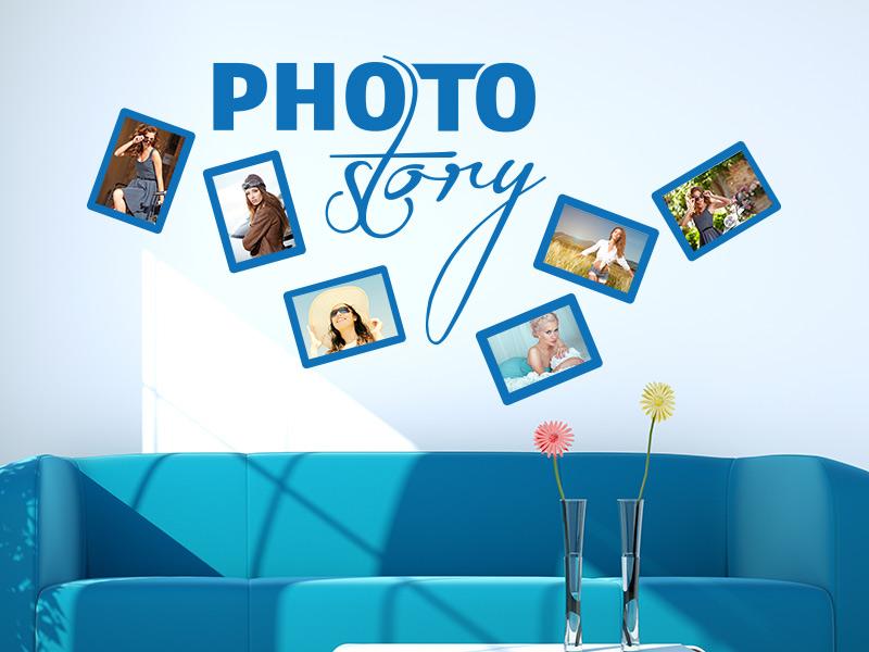 Wandtattoo Fotorahmen Photostory