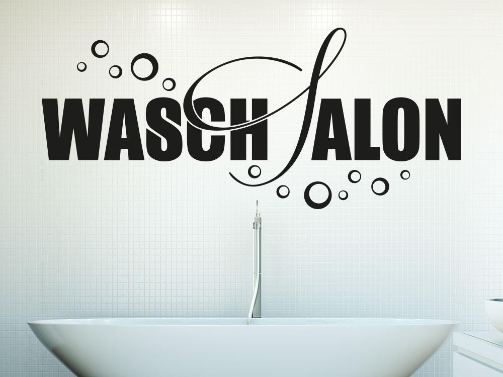 Wandtattoo Waschsalon