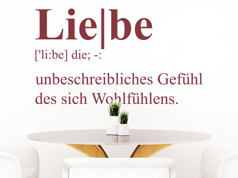 Wandtattoo Definition Liebe