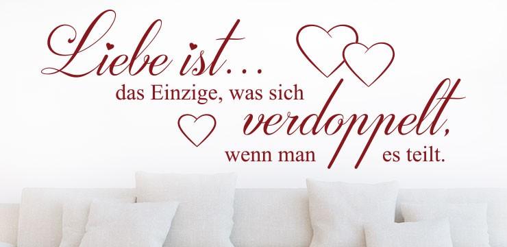 Wandtattoo Spruch Liebe Ist Das Einzige.
