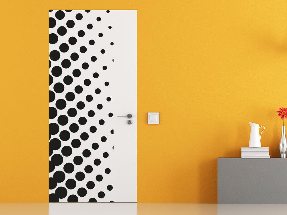 Wandtattoo Wandbanner Punkte für Tür