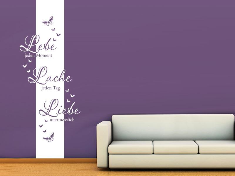 wandtattoo wandbanner lebe jeden moment von klebeheld. Black Bedroom Furniture Sets. Home Design Ideas