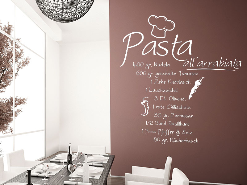 Wandtattoo Pasta all arrabiata