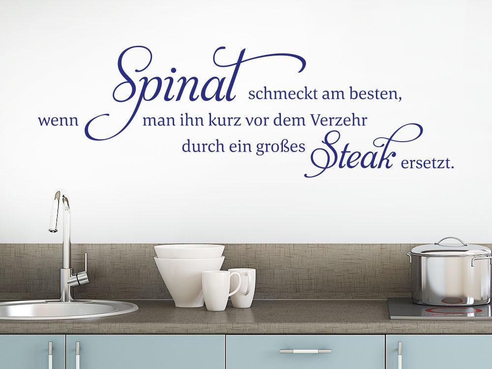 Wandtattoo Spinat schmeckt am besten… - KLEBEHELD®.DE