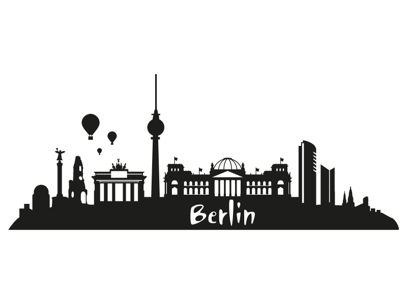 wandtattoo skyline berlin skyline als wandtattoo. Black Bedroom Furniture Sets. Home Design Ideas